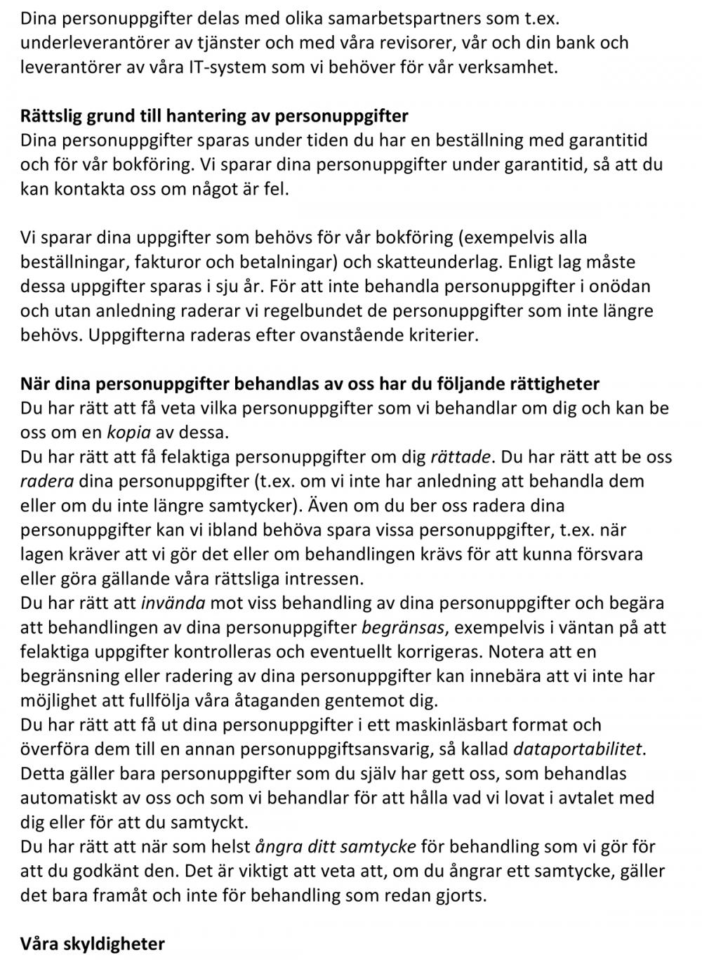 Microsoft Word - personuppgiftpolicy gdpr - göran lindström måleri.docx